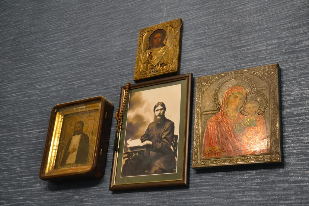 Icons and the picture of Rasputin