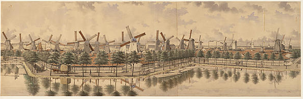 wind mills in Amsterdam