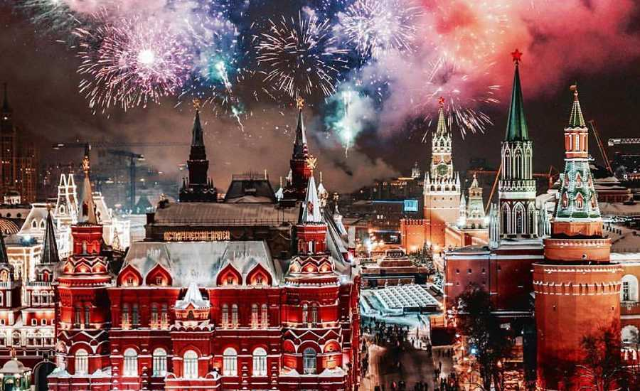 New Year Fireworks in Moscow